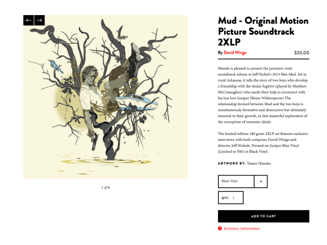 Mud   Original Motion Picture Soundtrack 2XLP – Mondo